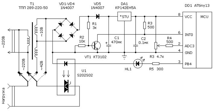 Регулятор температуры паяльника 12в схема